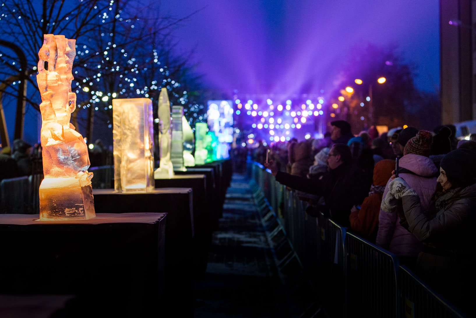International Ice sculpture festival in Jelgava2