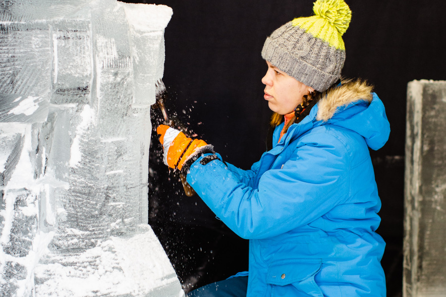 Ice superheroes are coming to life in team sculptures