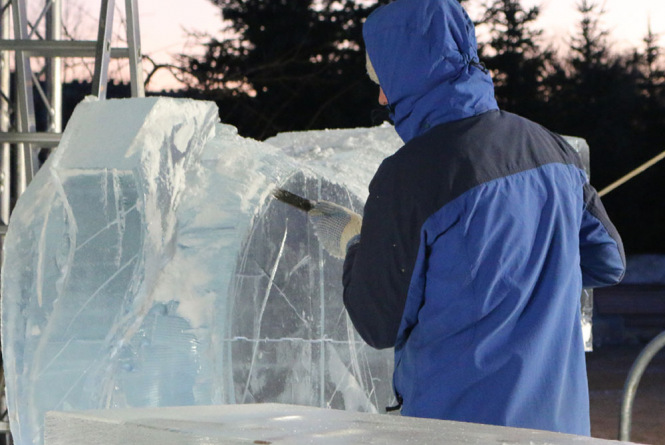 Jelgava is getting ready for 20th International Ice sculpture festival